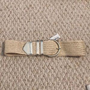 Express gold and woven belt size medium